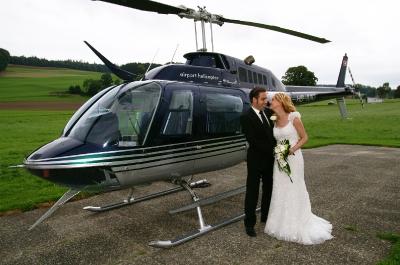 Ein zufriedenes Brautpaar