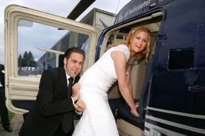 Beim Einstieg in den Jet Ranger